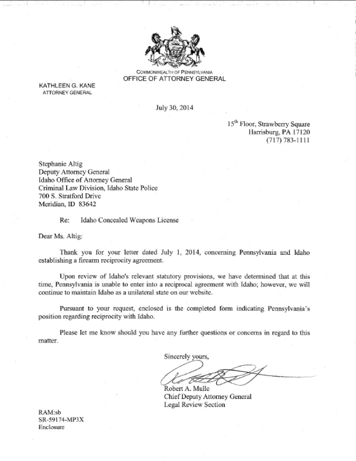 AG Response to Idaho