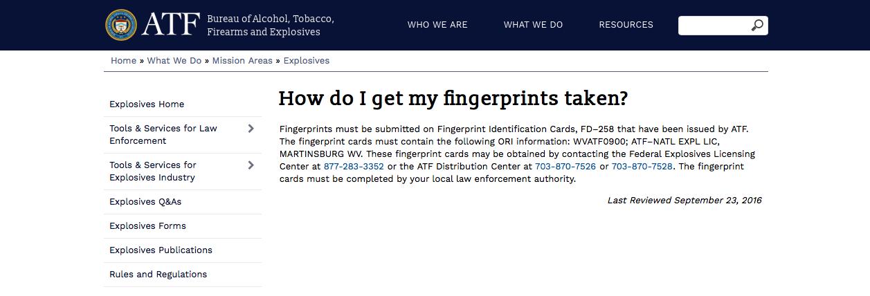 Atf Form 4 Fingerprint Card Instructions Timiznceptzmusic
