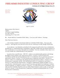 With PA Representative Sims Censoring Pro-Second Amendment Comments, FICG Files Letters of Objection with House Judiciary Committee Members