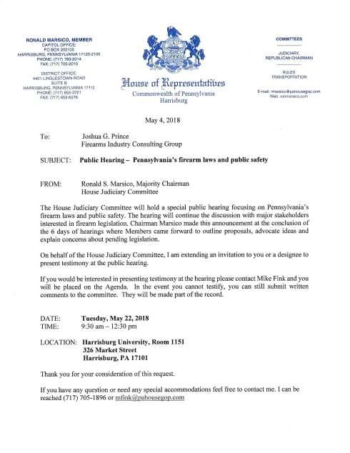 Prince Testimony House Judiciary